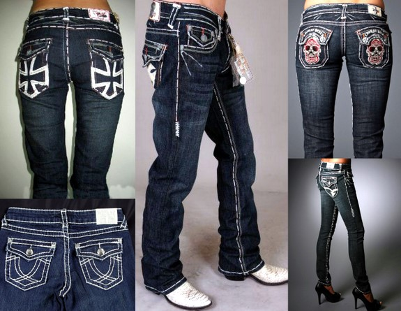 blue jeans white stitching