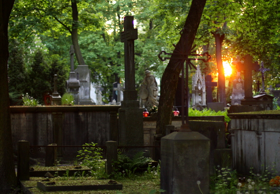graveyard sunset