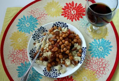 vegan couscous and date dinner recipe