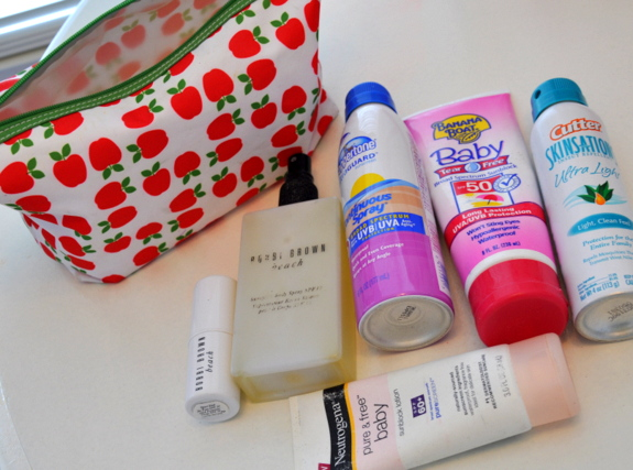 what's in your purse series sunscreen