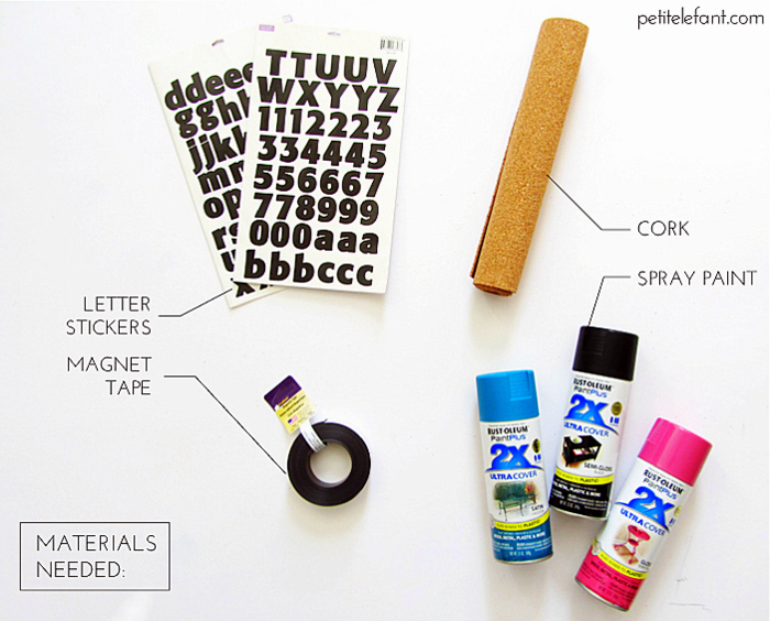 how to magnetic cork numbers and letters