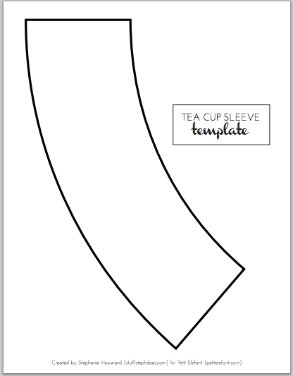 Home made DIY tea cup template