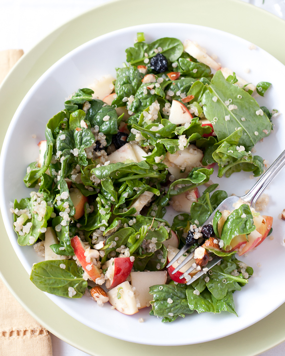 Spinach quinoa salad with fruit recipe