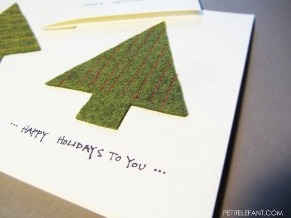 make a DIY Christmas tree card how-to