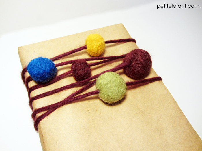 wrap presents with felt
