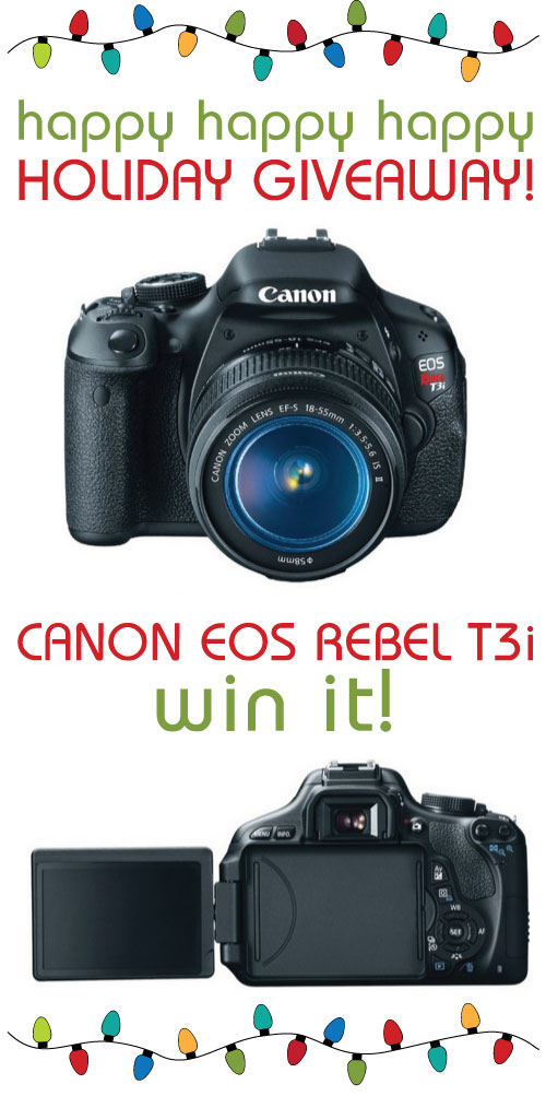 Canon DSLR camera giveaway