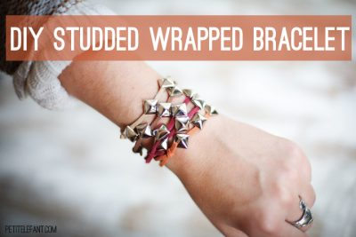 how to DIY studded bracelet