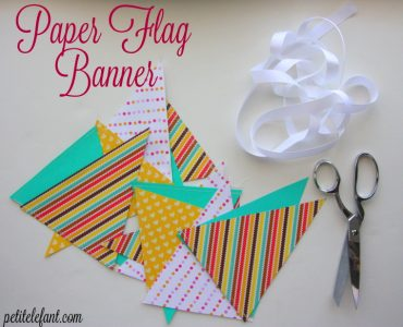 how to make paper flag banner