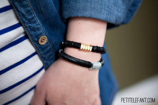 DIY Bracelets with Sequins