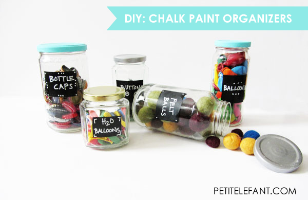 tutorial for chalk paint organizers DIY