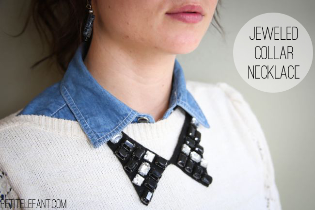 DIY Jeweled Collar Necklace