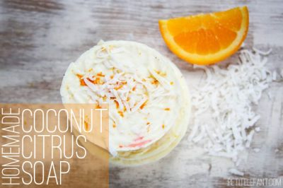 homemade citrus coconut soap diy