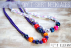 DIY tshirt necklaces with beads