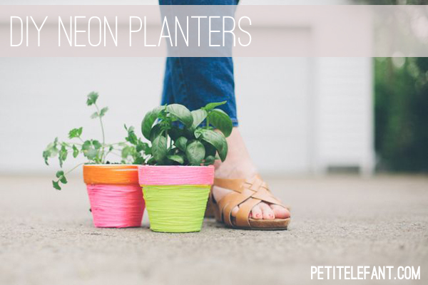Neon Wrapped Planter Tutorial