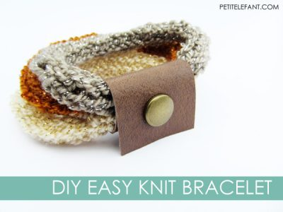 diy easy knit bracelet
