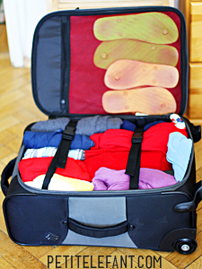 roll clothes to pack