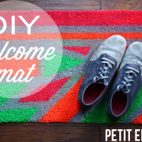 DIY custom welcome mat