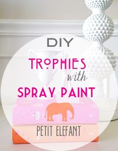 DIY trophy with spray paint