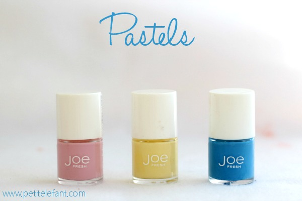 pastel summer nail colors