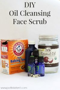 DIY oil cleansing face scrub