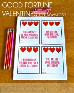good fortune valentine printable