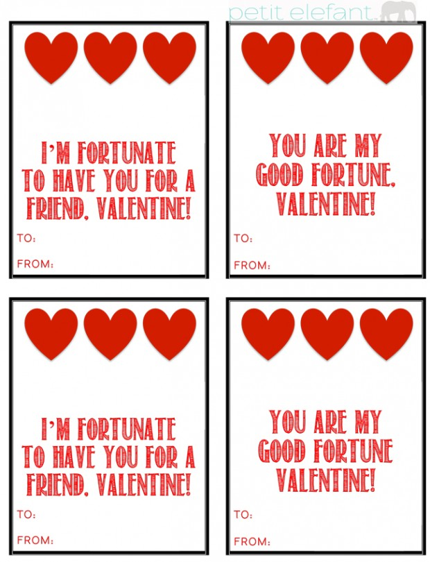 fortune valentine printable