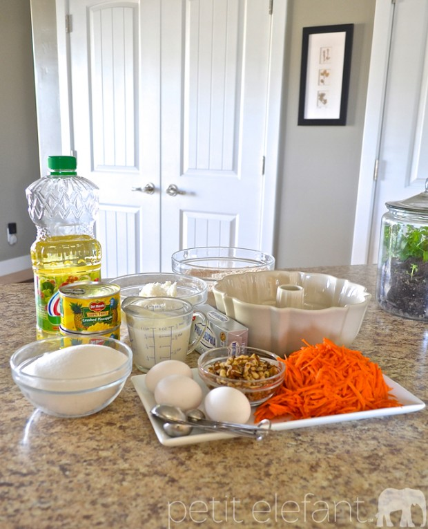 The Carrot Cake Ingredients