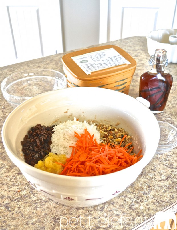 The Carrot Cake Mixing