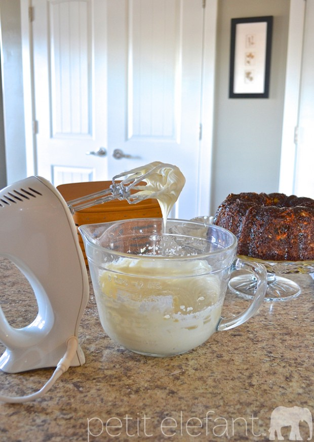 the carrot cake frosting