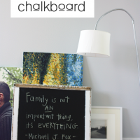 how to make a simple DIY chalkboard