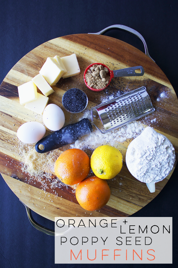 orange + lemon poppy seed muffin recipe