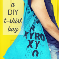 DIY recycled t-shirt bag