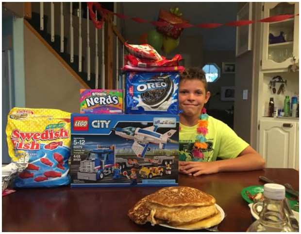 We Made An All You Can Eat Pancake Breakfast And Gave Him A Table Full Of Presents Food Except Legos Because 11 Year Old Boys Be Satisfied