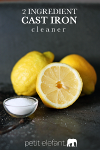 2 ingredient cast iron cleaner how to