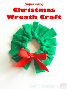 Christmas Wreath Craft Title
