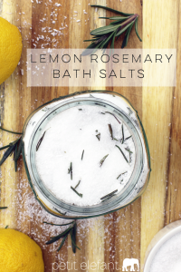 lemon rosemary bath salt