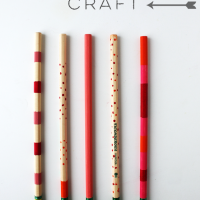 Plain Painted Pencils Craft