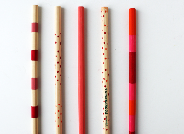 How To Plain Painted Pencils Craft