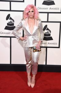 Bonnie McKee Grammys Red Carpet 2016