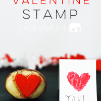 make your own valentine stamp