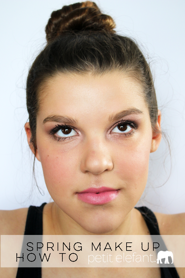 step by step spring make up look