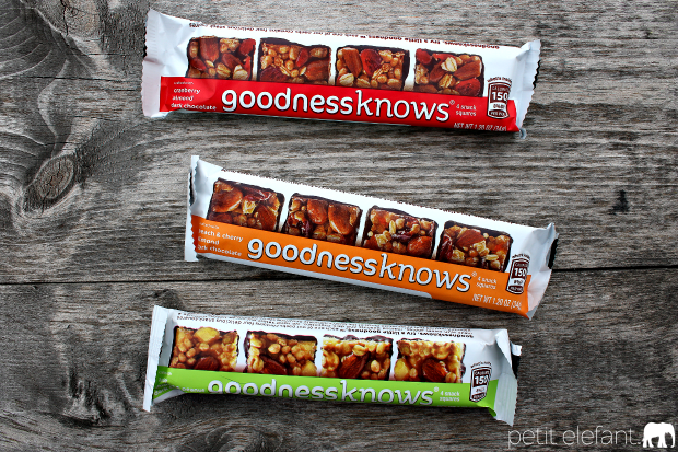 goodnessknows granola bars