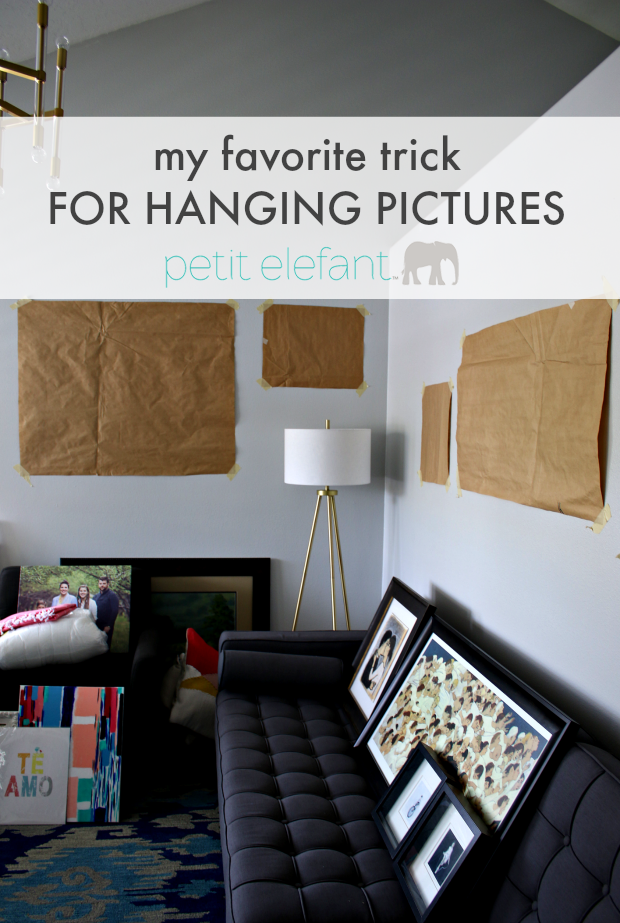 favorite trick for hanging pictures