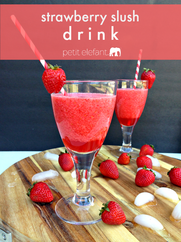 make your own strawberry slush