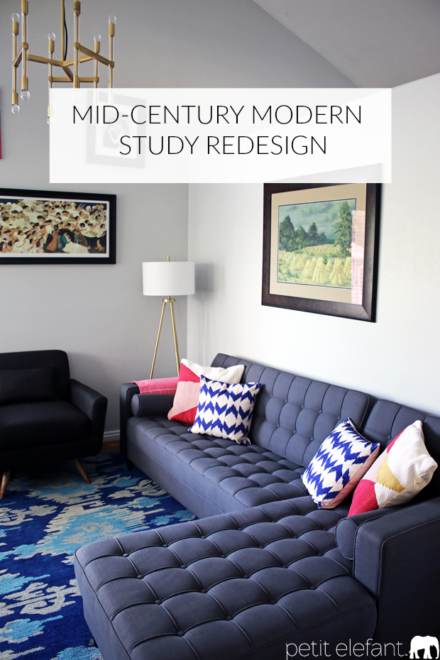 mid century modern study redesign After Photos Of