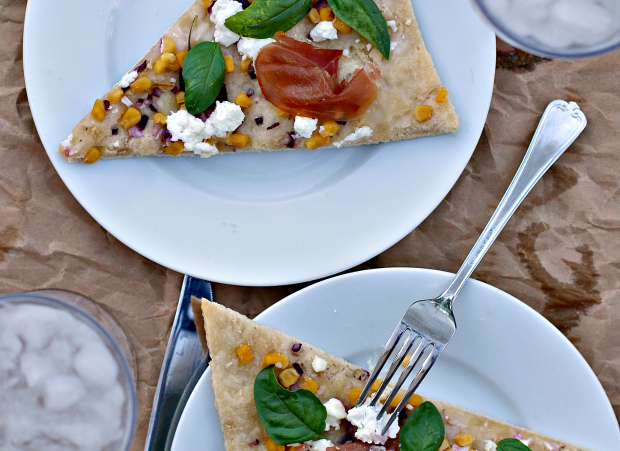 Home Made Corn + Goat Cheese Pizza Recipe