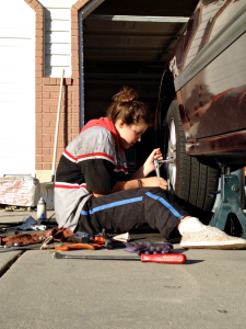 learning to change a tire