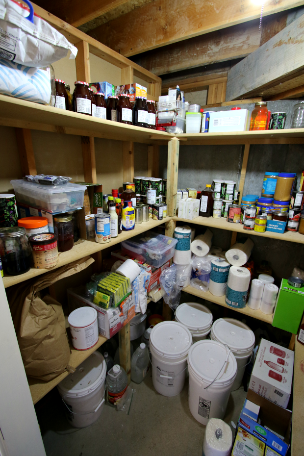 basement storage pantry